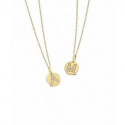 Collar Oro y diamantes inicial letras LeCarré