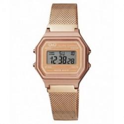 Reloj retro malla color oro rosa Q&Q M173J030Y
