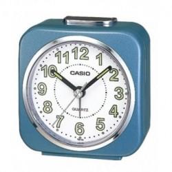 CASIO Despertador barato color azul analógico con alarma de