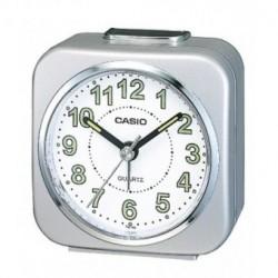 CASIO Despertador barato color plata analógico con alarma de