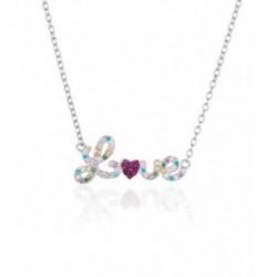 Collar plata dia San Valentin LOVE