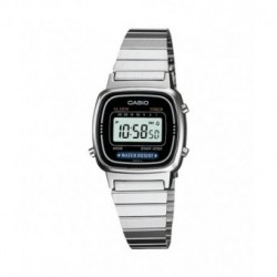 Reloj retro vintage de moda para mujer color plata CASIO LA670WEA-1EF