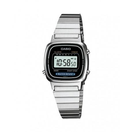 ea1fa1bc13a5 Reloj retro vintage de moda para mujer color plata CASIO LA-670WD-1U