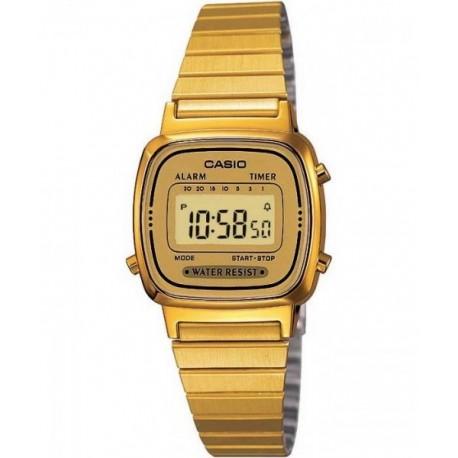 12cb451a16a9 Reloj retro vintage de moda para mujer color dorado CASIO LA-670WG-9D
