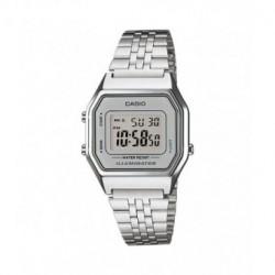 Reloj retro vintage de moda para chica color plata CASIO LA-680WA-7D