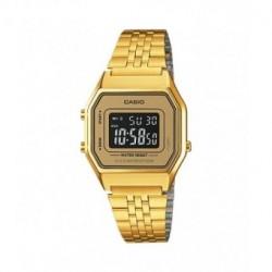 Reloj retro vintage de moda para chica color dorado CASIO LA-680WG-9B