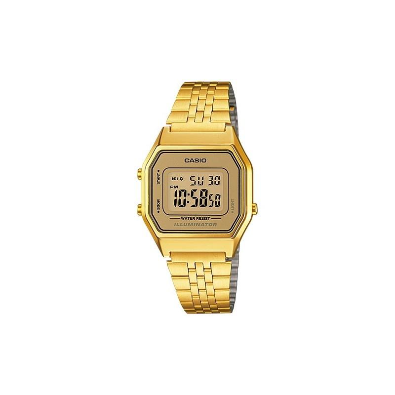 dc44a0e30bdb Reloj retro vintage de moda para chica color dorado CASIO LA-680WG-9D
