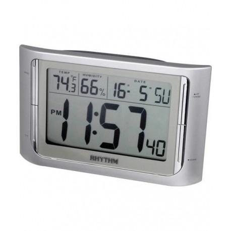 Despertador Digital con termómetro y higrometro RHYTHM Japan LCT061NR19