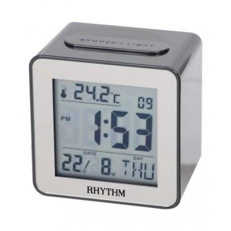 Despertador Digital con calendario en Español RHYTHM Japan LCT076NR02