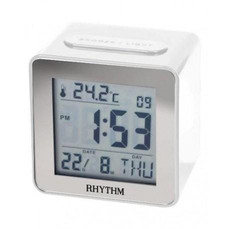 Despertador Digital con calendario en Español RHYTHM Japan LCT076NR03